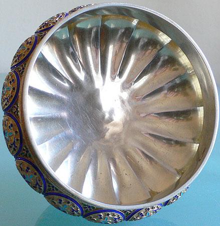 Russian Guilloche Enamel Silver A. Kuzmichev Tiffany 1880s